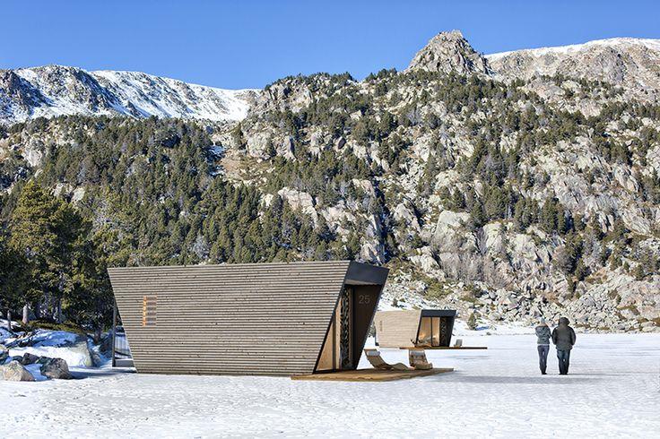 in-tent drop box modular hotel suite designboom