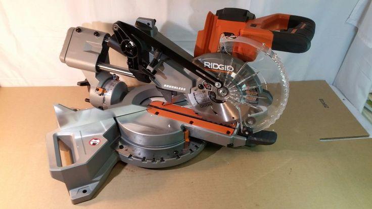 Ridgid R48607K Brushless 18v 7-1/4 in. Dual Bevel Sliding Miter Saw 01242017.15 #Ridgid