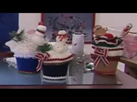 Como Hacer Muffins en Icopor y Paño de Adorno Navideño- Hogar Tv por Juan Gonzalo Angel - YouTube