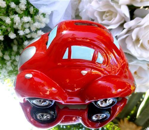 Bomboniere Money Box Car- Red