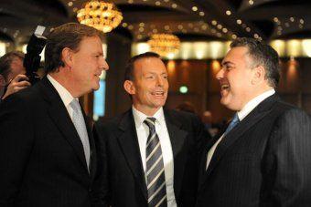 LtoR Peter Costello, Tony Abbott and Joe Hockey.