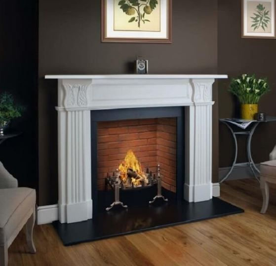 ACANTHUS mantelpiece | Flames of Richmond | Gas, Electric, Wood burning fires & stoves, and fireplaces