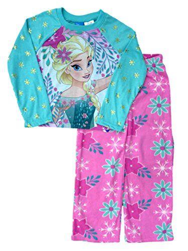 3df2d5ab3a Disney FrozenGirl 2 Piece Princess Elsa Top Bottoms Pajama Sleep PJ S 6X