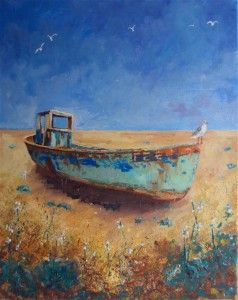 Fishing Boat Seagull by Teresa Tanner