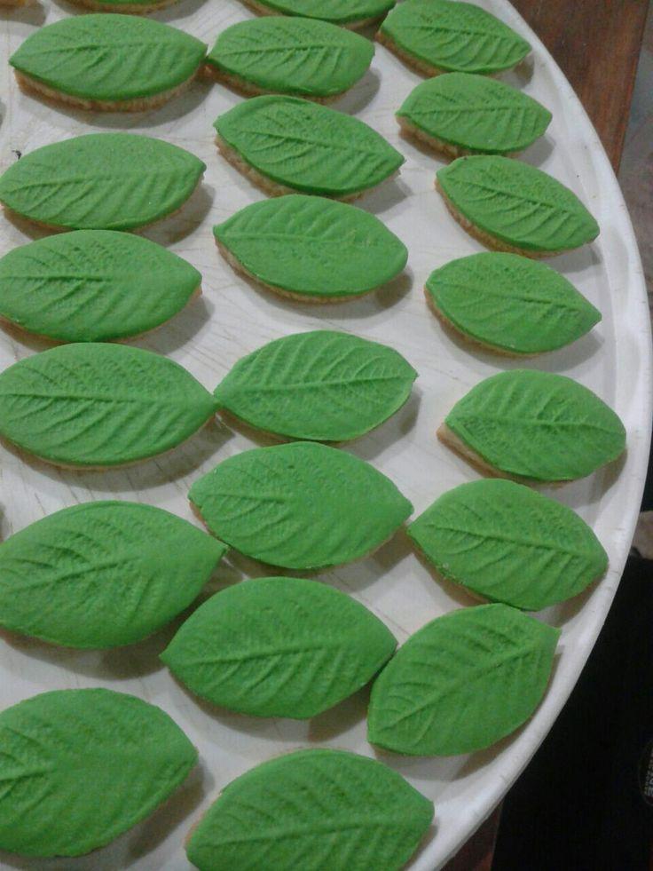 Galletitas en forma de hojas