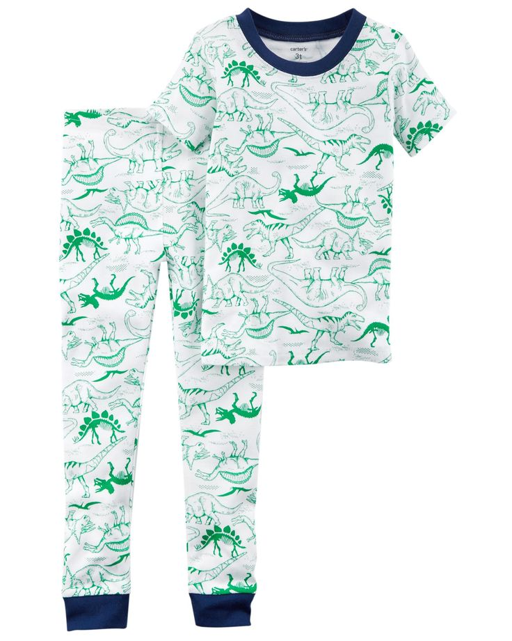 Kid Boy 2-Piece Dinosaur Snug Fit Cotton PJs | Carters.com