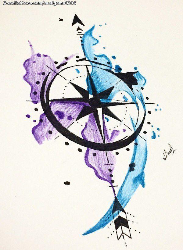 Image Result For La Rosa Delos Vientos Compass Tattoo Art Tattoo Arrow Tattoos
