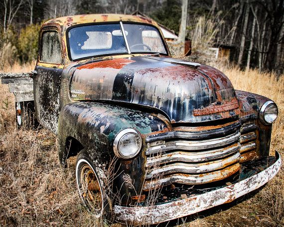 Old Truck Photography Fine Art Print Chevy by PausePhotography