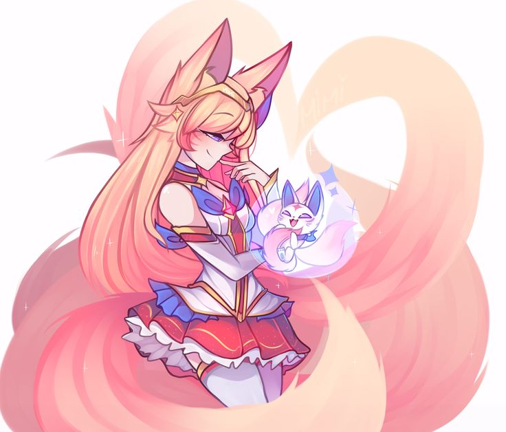 Star Guardian Ahri by mimi HD Wallpaper Background Fan Art Artwork League of Legends lol (2)