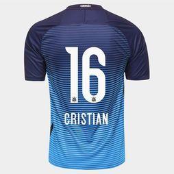 Camisa Nike Corinthians III 2016 nº 16 - Cristian - Azul