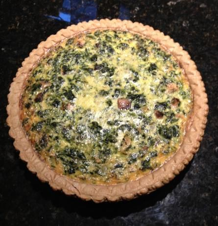 Easy Spinach and Mushroom Quiche. Photo by donna kardy