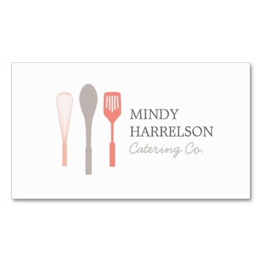 203 best catering business cards images on pinterest catering whisk spoon spatula logo ii for bakery catering business card reheart Images