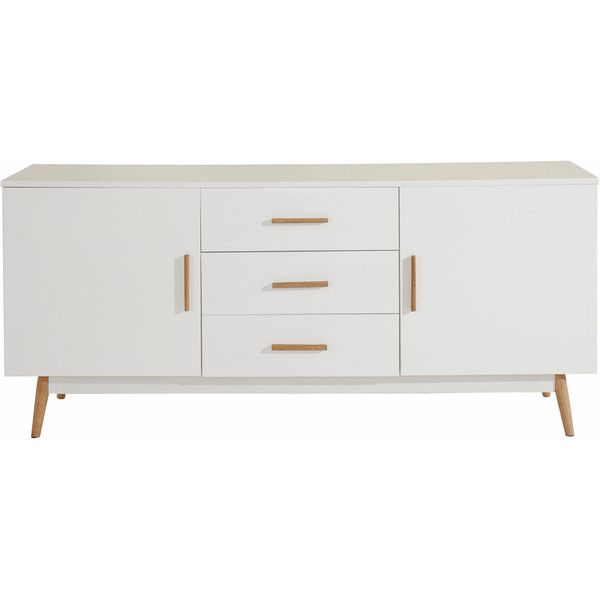 Scandinavian Lifestyle Texas Sideboard (585 CAD) ❤ liked on Polyvore featuring home, furniture, storage & shelves, sideboards, storage shelving, colored furniture, media storage cabinet, shelves furniture and home storage furniture