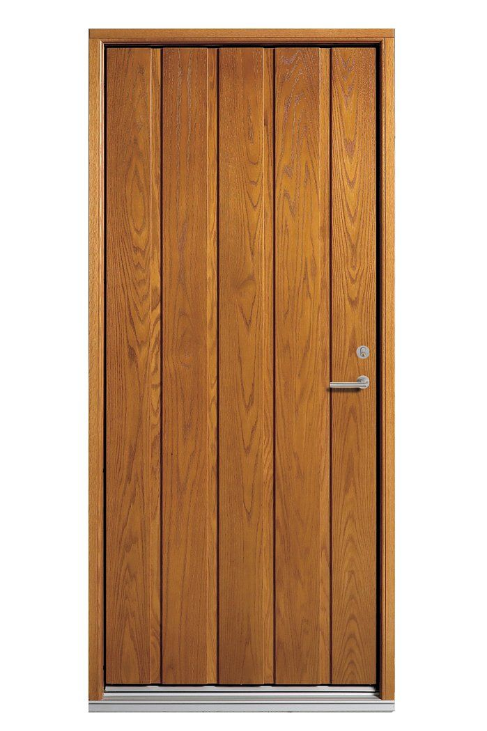 Plank - Olsen's most popular Je-Trae door with vertical planks of solid timber. http://www.olsenuk.com/products/entrance-doors/je-trae-traditional