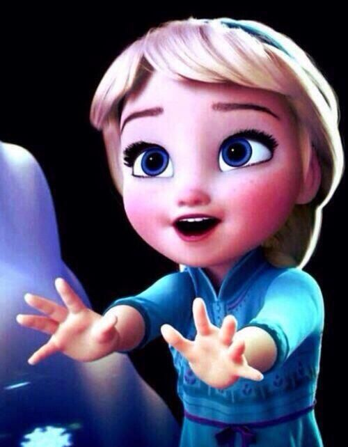 this is the adorable Elsa from the new Disney movie ''Frozen''. Elsa here is so young and sooo adorable!!!!