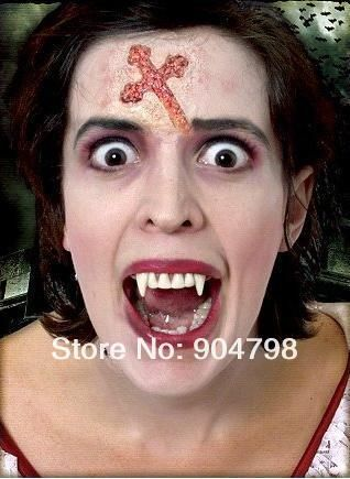 4PCS White Hot Fancy Vampire Denture Teeth Fangs Party Halloween Costume free shipping US $2.25