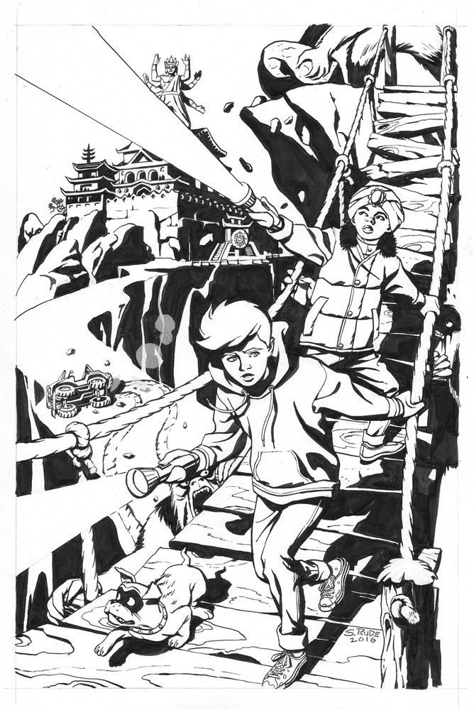 This cover was hand inked and contains real zipatone, something not often seen anymore. Minimal white out and in excellent condition. Also comes with the original rough done for the editor AND Steve's