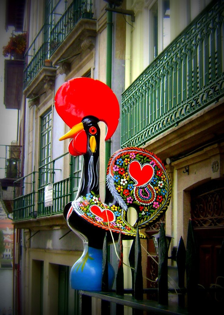 The Galo de Barcelos is one of the most common emblems of Portugal. Its story is of a dead rooster's miraculous intervention in proving the innocence of a man who had been falsely accused and sentenced to death.