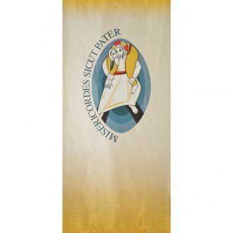 Logo Jubileo de la Misericordia sobre tejido 135x300 cm estampa LATÍN
