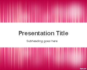 Free Pink PowerPoint Template with noise effect is a simple but effective abstract slide design that you can download to make presentations in Microsoft PowerPoint 2010 and 2007. You can download this free PPT background template with pink color to make presentations on fashion as well as other presentation topics. You can get a list of presentation ideas