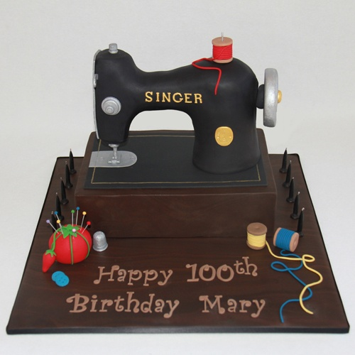 Cake Design For Singer : Singer Sewing Machine Cake sweets Pinterest Sewing ...