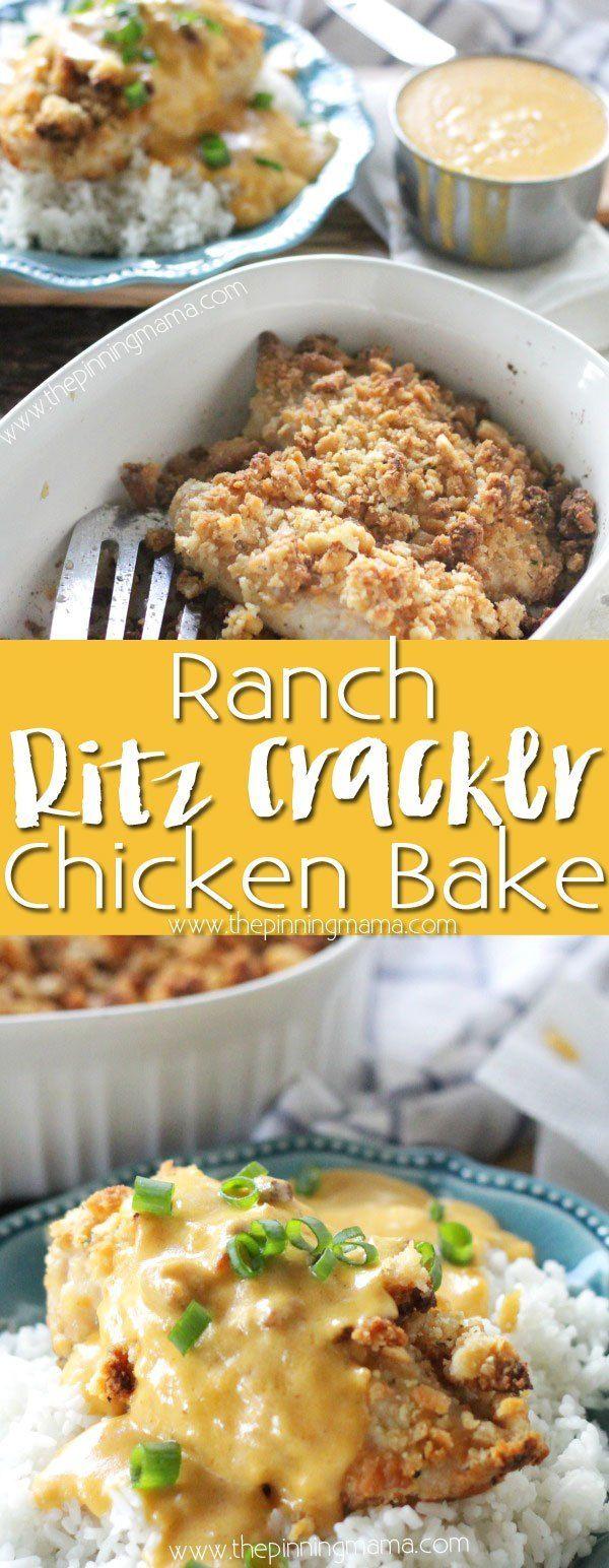 Ranch Cracker Chicken Bake Recipe - This one dish baked chicken dinner is tender…