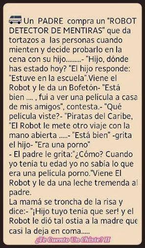 RINCON LOQUITO: ROBOT DETECTOR DE MENTIRAS