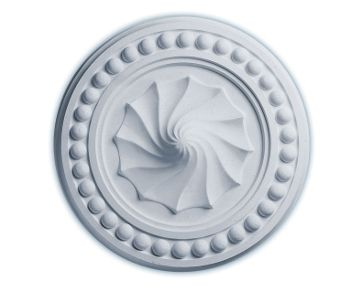 15 3/4in.OD x 2in.P Foster Shell Ceiling Medallion No Finish