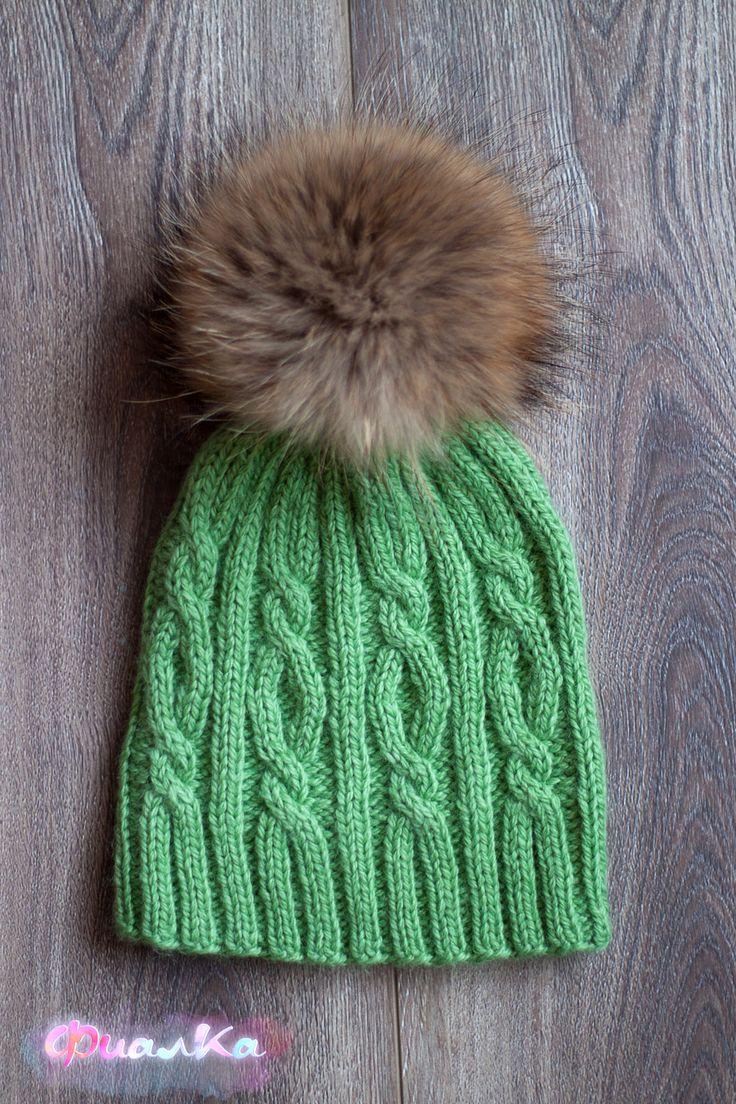 вязание спицами мужская шапка с ушами и козырьком отворотом схемы