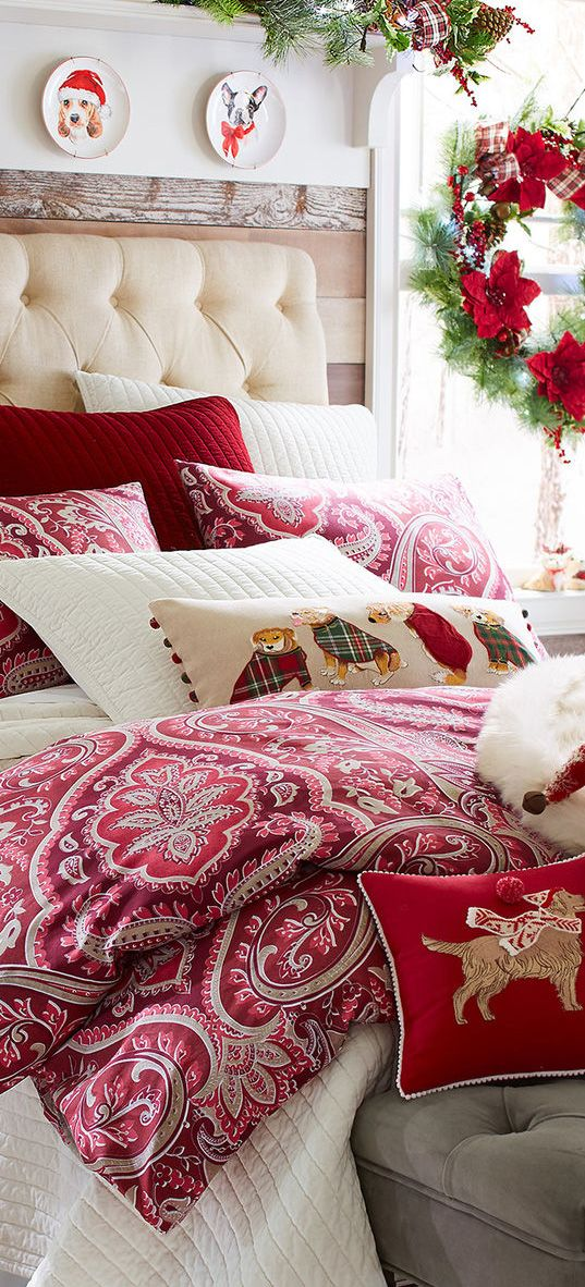 Christmas Bedrooms 252 best christmas bedrooms images on pinterest | christmas