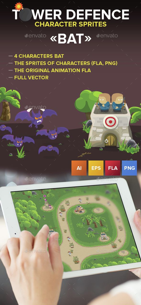 3 #Game bats character - Game #Assets Download here: https://graphicriver.net/item/3-game-bats-character/14760146?ref=alena994