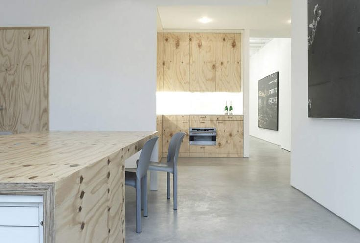 This actually looks kinda cool - plywood cabinet doors and sides... though I might whitewash them...  desire to inspire - desiretoinspire.net - ThomasKröger