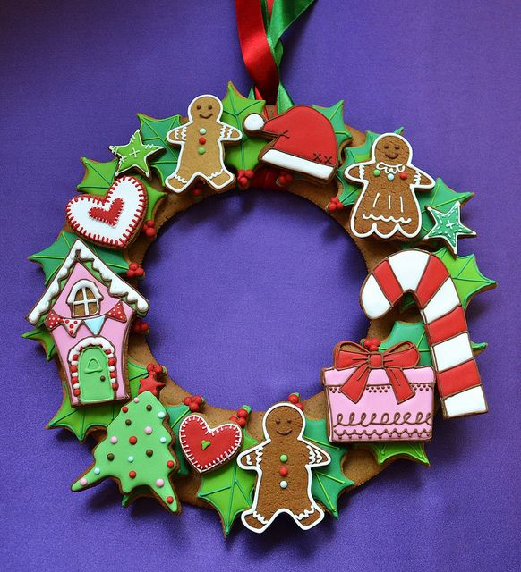 Christmas cookie wreath | Flickr - Photo Sharing!