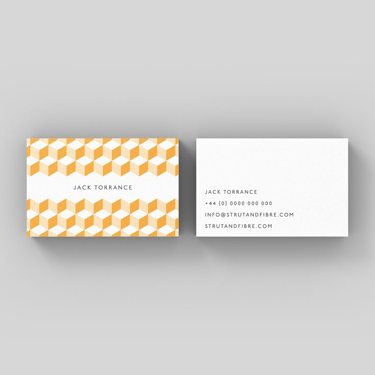 Torrance – one of our Pattern business card templates available to customise and order on our site.