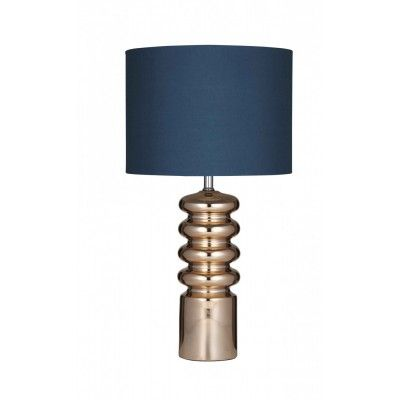 Priscilla Table Lamp, Copper/Teal, Pair - Table Lamps Look, this is a bit 'out there' but I love it, it's Teal and copper (THE finish of the moment) and very glam for your master bedroom