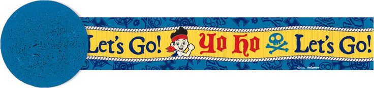 Jake and the Neverland Pirates Crepe Paper Streamer, 30' | 1 ct