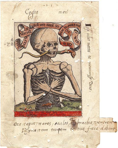 Memento Mori engraving (ca. 1500) courtesy of Hill-Stone, Inc., New York, NY.