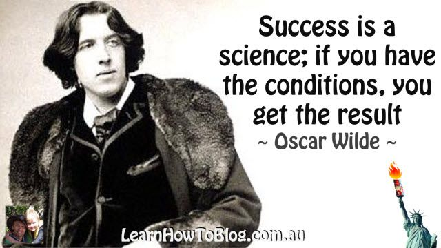 Oscar Wilde Quote - Learn How to Blog