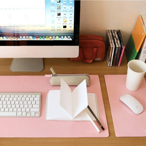 """Satechi Desk Mat & Mate 24.4"""" x 13.8"""" Desk Pad & Protector Mouse Pad for desktops and laptops (Soft Pink)"""