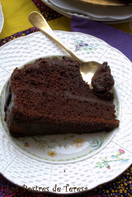 pastel de chocolate de juana en Los Postres de Teresa