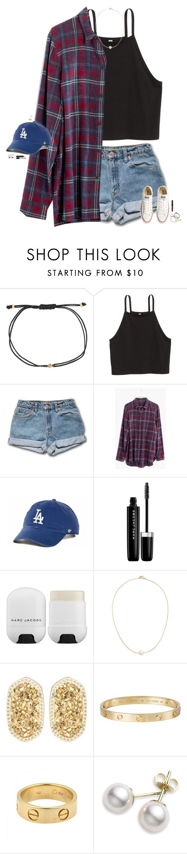 """""""inspo // @kthayer01"""" by maggie-prep ❤ liked on Polyvore featuring Melissa Joy Manning, Madewell, '47 Brand, Marc Jacobs, Sole Society, Kendra Scott, Cartier, Mikimoto, Converse and maggiesbestsets"""
