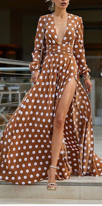 This polka dot maxi dress took my breath away
