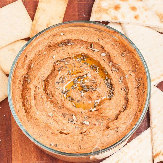 Sun Dried Tomato Hummus - Chew Out Loud