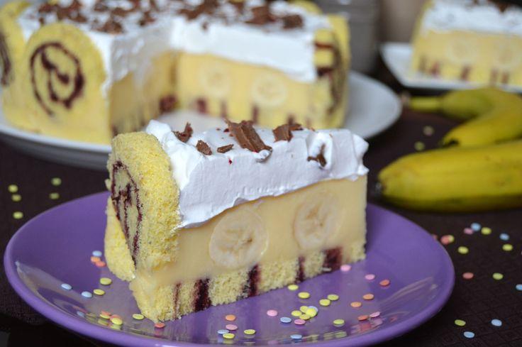 Miremirc - Tort cu rulada si banane