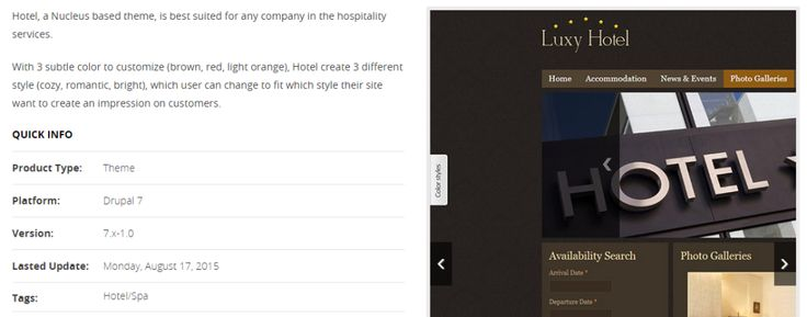 12 Best Responsive Hotel Drupal Themes