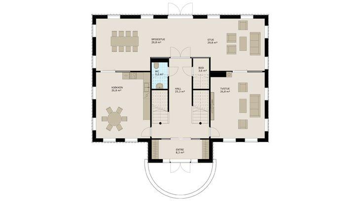 I andre etasje finner du 5 soverom, vaskerom, bad og loftstue med utgang til en…