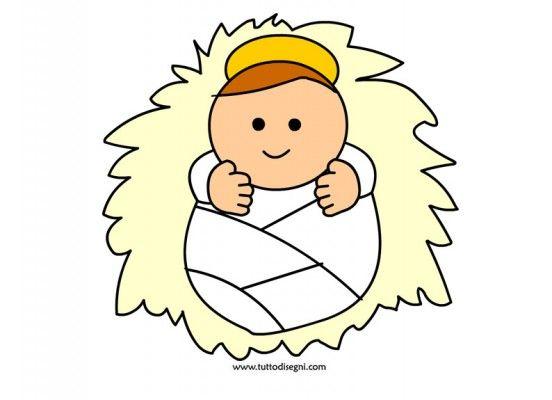 Flanelplaat Jezus in de kribbe / Gesù bambino da stampare e ritagliare