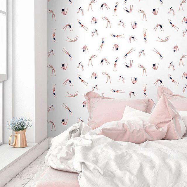 Les Nageuses, nouveau papier peint, collaboration @mylittleparis X @papermint_paris Illustrations de Kanako On adore et vous ? Disponible sur paper-mint.fr en rouleaux de 3ml #swimmingpool #wallpaper #decoration #deco #nageuse #kanako #mylittleparis #paris #fresh #fun #gai #igersfrance #interiordesign #blogdeco #home #papermint
