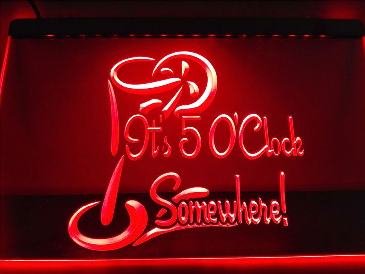 LB560-b It's 5 O'Clock Somewhere Bar Beer NEW LED Neon Light Sign #BarBeerNEWLEDNeonLightSign