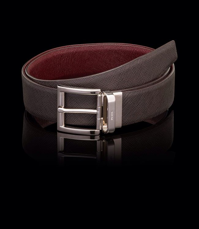 Men Prada Belt burgundy | Mens Belts | Pinterest | Prada, Belts ...